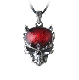 Flame Brain Men's Alternative Pendant By Alchemy Gothic