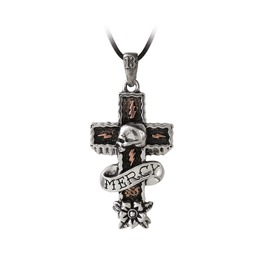 Mercy Cross Men's Alternative Necklace By Alchemy Gothic