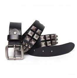 Pyramid Studs Leather Belt
