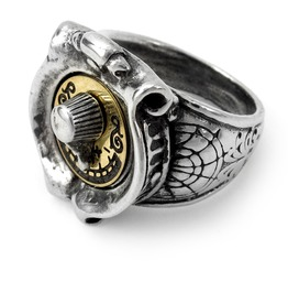 Gmt Feromonic Field Detector Men's Steampunk Ring By Alchemy Gothic
