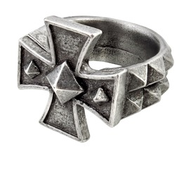 Cross Of Iron Men's Alternative Ring By Alchemy Gothic