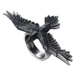 Black Consort Unisex Gothic Ring By Alchemy Gothic