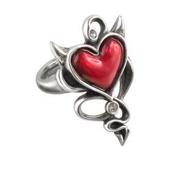 Devil Heart Ladies Gothic Ring By Alchemy Gothic