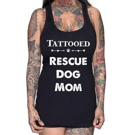 Tattooed Rescue Dog Mom Racer Back