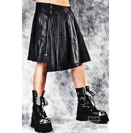 Lip Service Black Pleather Cybergoth Industrial Ebm Mens Kilt