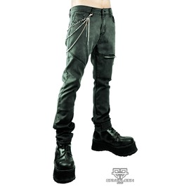 Chained Gothic Industrial Cyberpunk Emo Ebm Burning Man Zipper Skinny Jeans