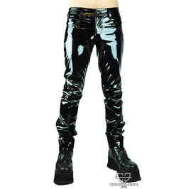 Black Pvc Fetish Gothic Industrial Cyberpunk Ebm Pants S 3 Xl