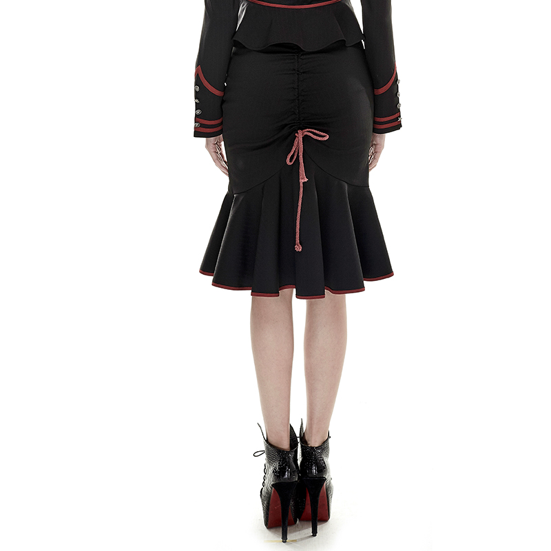burlesque pin up rockabilly retro pencil skirt with flared