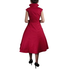 Red Rockabilly Pin Up Cute Retro Vampire Swing Dress $9 To Ship Worldwide