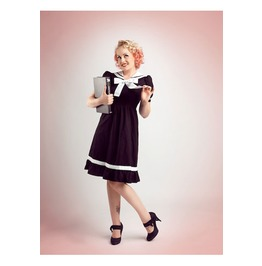 Lolita Sailor Dress Black Blue Or White Cute 50s Dress $9 To Ship Worldwide