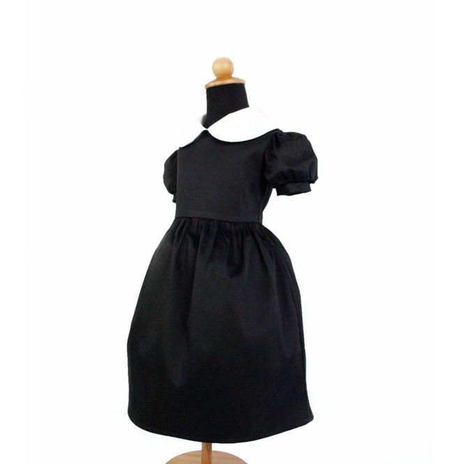 997cf979a7 Girl s Wednesday Addams Inspired Dress