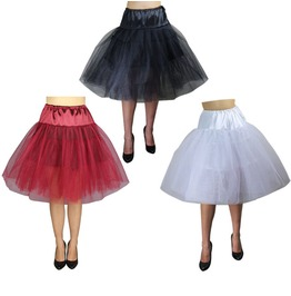 Red White Or Black Petticoat Retro Pin Up 50s Crinolin Plus Sizes $9 To Ship