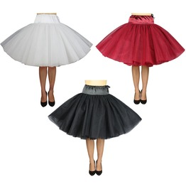 Extra Puffy Red White Black Petticoat Retro Pin Up 50s Plus Size $9 Ship