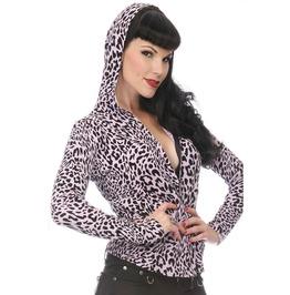 Jawbreaker Clothing Leopard Print Zipper Hoodie