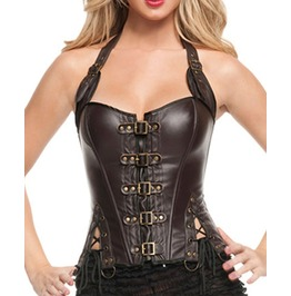 Sexy Lace Up Slimming Faux Leather Corset