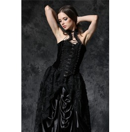 Black Hot Gothic Velvet Lace Up Hook & Eye Corset Top $9 To Ship Worldwide