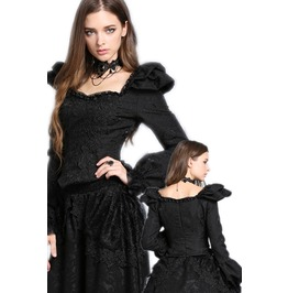 Unique Black Victorian Court Jacket Gothic Long Sleeved Top