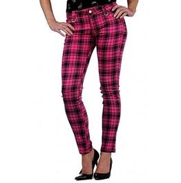 Jawbreaker Clothing Tartan Drainpipe Jeans