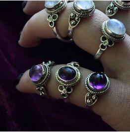 Gaia Amethyst 925 Sterling Silver Ring