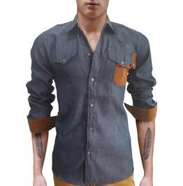 Blue Slim Oxford Shirt