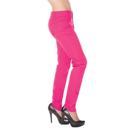 Jawbreaker Clothing Punk Inspired True Skinny Jeans Pink, Blue,And Burgundy