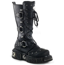 Demonia Dma 3000 Gothic Rocker Cyber Rave Industrial Apocalyptic Boots 7 11