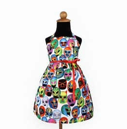 Luchador Masks Girl's Dress