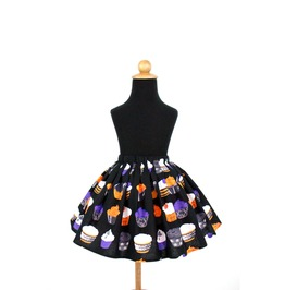 Goth Cupcakes Girl's Skirt