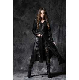 Ladies Black Vampire Hunter Jacket Long Asymmetrical Gothic Coat