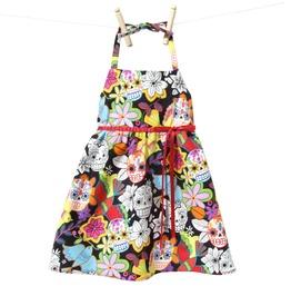Birds, Skulls, And Flowers Girl's Dress