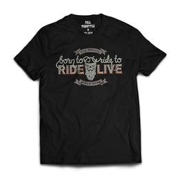 Full Throttle Old School Biker Club Mens T Shirt