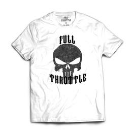 Full Throttle Originals Punisher Skull Mens T Shirt