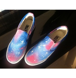 Galaxy Print Slip Shoes Canvas Shoes