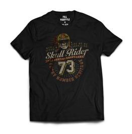 Full Throttle Skull Rider Mens T Shirt