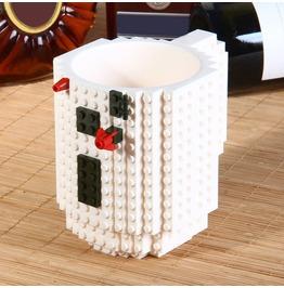 White Lego Style Large Coffee Mug