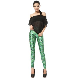 Peacock Print Leggings Pants