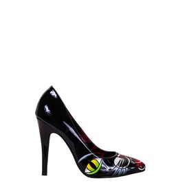 Iron Fist Shoes Black Cat Point Heel