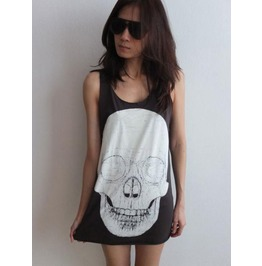 Skull Goth Punk Pop Art Rock Tank Top