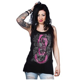 Toxico Clothing Deathsnake Tank Black And White