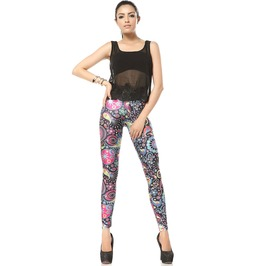 Colorful Candy Print Leggings Pants