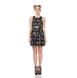 Jawbreaker Clothing Vertex Dress Black And White