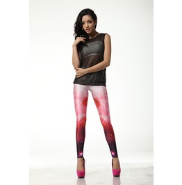 Pink Fading Color Leggings Pants
