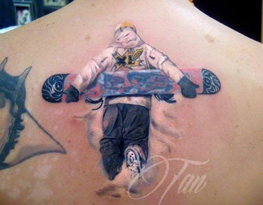 List of best snowboard ski surf and skateboard tattoos 2014