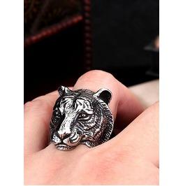 Domineering Tiger Head Ring Stainless Steel