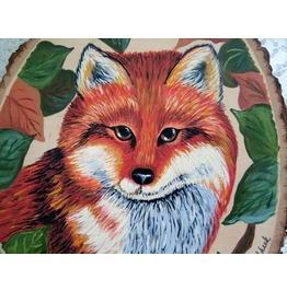 Fox Painting, Original Fine Art Nature Rustic Animal