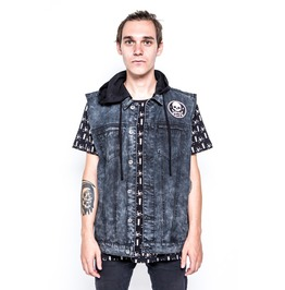 Iron Fist Clothing Engineered Sleeveless Trucker Jacket
