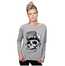 Toxico Clothing Grey Suicidal Sweatshirt