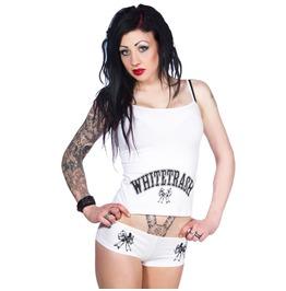 Toxico Clothing Whitetrash Underwear Set White And Orange