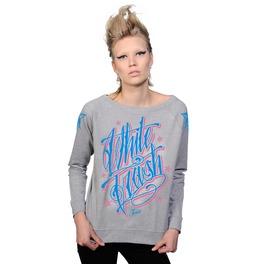 Toxico Clothing Grey Whitetrash Script Sweatshirt