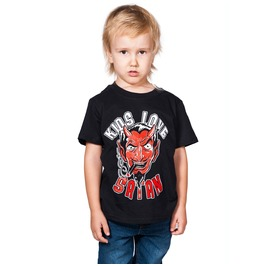 Toxico Clothing Black Kids Love Satan T Shirt